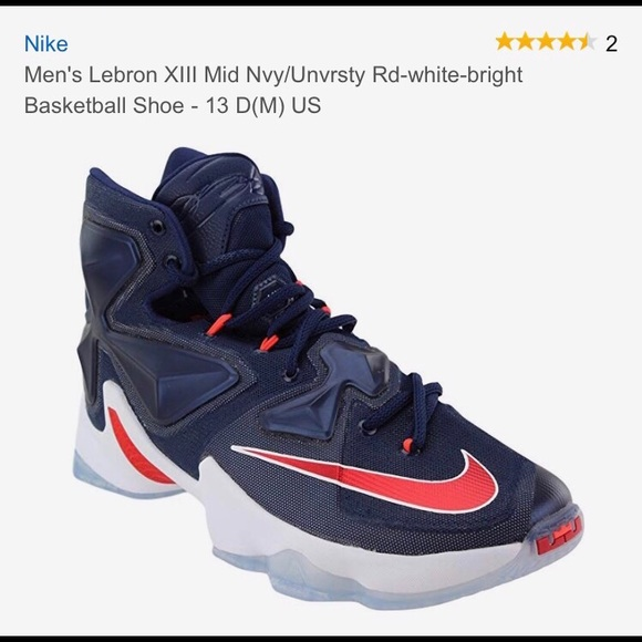 low priced 7f1e2 dc4d8 Nike Lebron James 13, Size 9